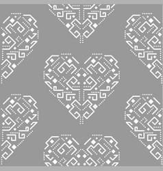 navajo heart shape ornament seamless vector image vector image