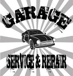 Vintage Garage poster design vector image vector image