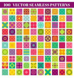 100 Seamless Patterns Background Collection vector image