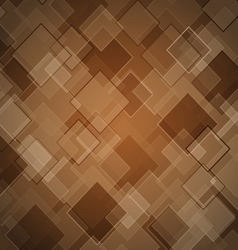 Abstract brown background with rhombus vector image vector image