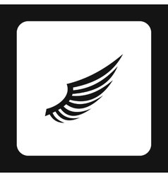 Fluffy birds wing icon simple style vector