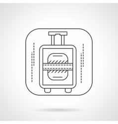 Luggage icon flat line design icon vector image vector image