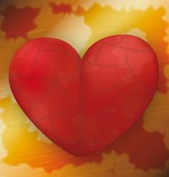 Metallic heart on rusty metal plate vector image vector image