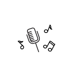 Microphone Recording icon vector image vector image
