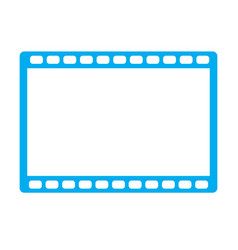 movie icon on white background movie icon sign vector image