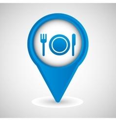 sign restaurant dinner design vector image