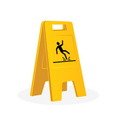 wet floor sign falling man vector image