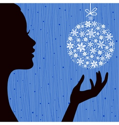 Christmas Eve Blue Color Background vector image vector image