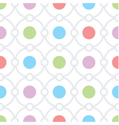 Circles seamless pattern vector