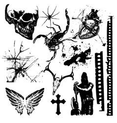 halloween grunge vector image vector image