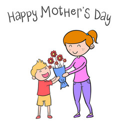 happy mother day character style vector image vector image