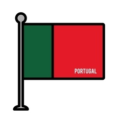 portugal patriotic flag isolated icon vector image vector image