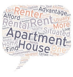 Should you rent a house or an apartment 1 text vector