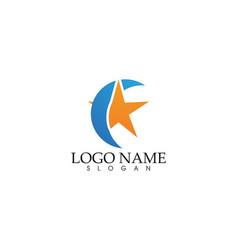 Star falcon logo template icon app vector