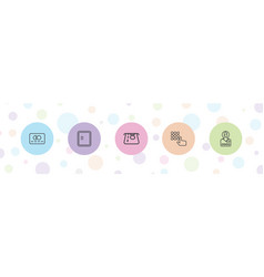 5 atm icons vector
