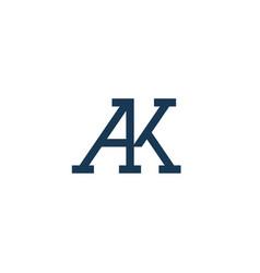 A k letter logo lettermark ak monogram elegant lux vector