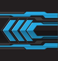abstract blue gray arrow futuristic vector image