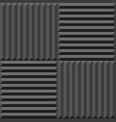 Acoustic foam seamless pattern soundproofing vector