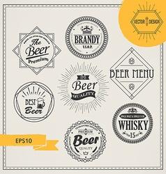 Alcohol logos and emblems vector