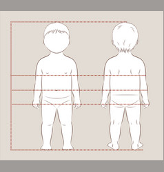 Baby body measurements vector