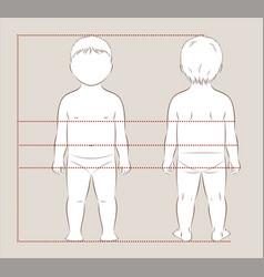 baby body measurements vector image