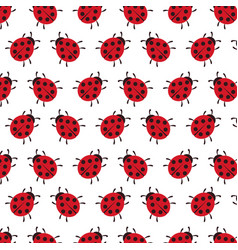 Background of ladybug vector