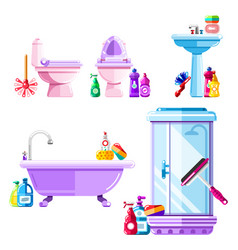 bathroom and sanitary engineering cleaning vector image