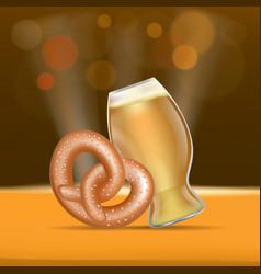beer and pretzel fest concept banner realistic vector image