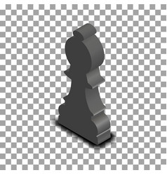black chess piece bishop isometric vector image