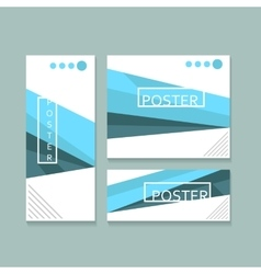 Brochure poster minimalistic design vector