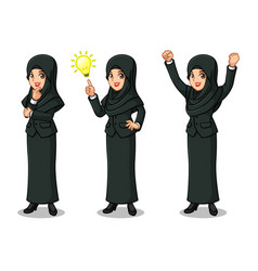 Businesswoman with veil getting ideas gesture vector