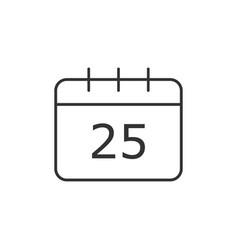 calendar christmas icon vector image