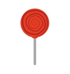 candy in stick confectionery sweet flat icon vector image