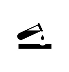 Caustic chemicals danger dripping acid flat vector