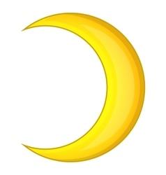 Crescent moon icon cartoon style vector