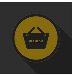 Dark gray and yellow icon - shopping basket vector