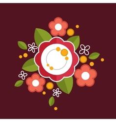 Decorative colorful floral composition Flat design vector