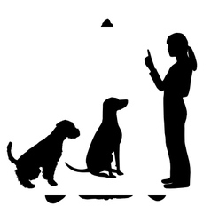 Dog Training vector image