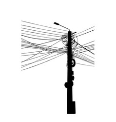 Electric pole vector
