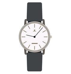 Elegant classic analog wrist watch isolated vector