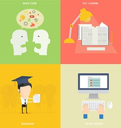 Element education tutorial traning concept icon vector
