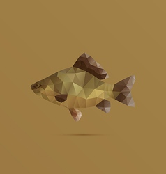 Fish made with triangles vector image