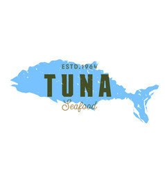 fish silhouettede sign tuna emblem vector image