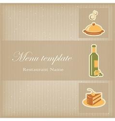 Food menu template vector image