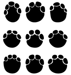 footprints elephants vector image
