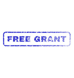 free grant rubber stamp vector image