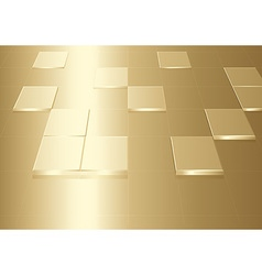 Gold Background With Squares vector