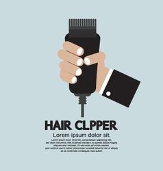 Hair clipper tool of hairdresser vector