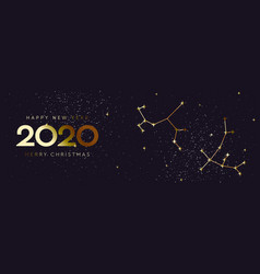happy new 2020 year and merry christmas vector image