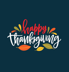 happy thanksgiving wish written with elegant vector image